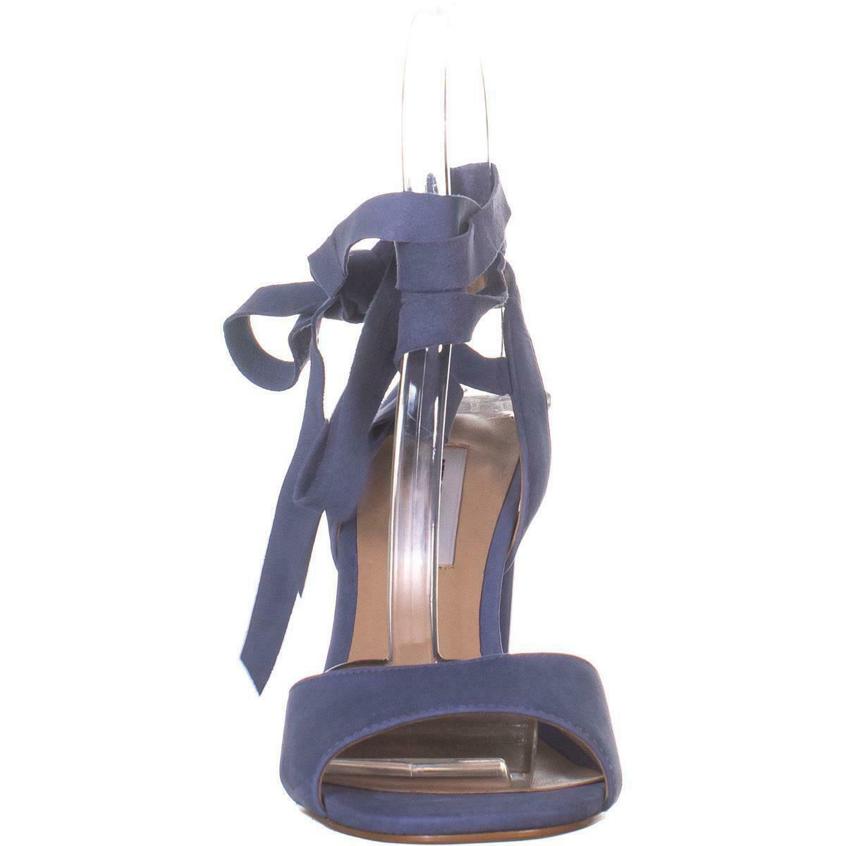 Steve Madden Kenny Ankle Strap Sandals, Blue Nubuck, 6.5 US image 2