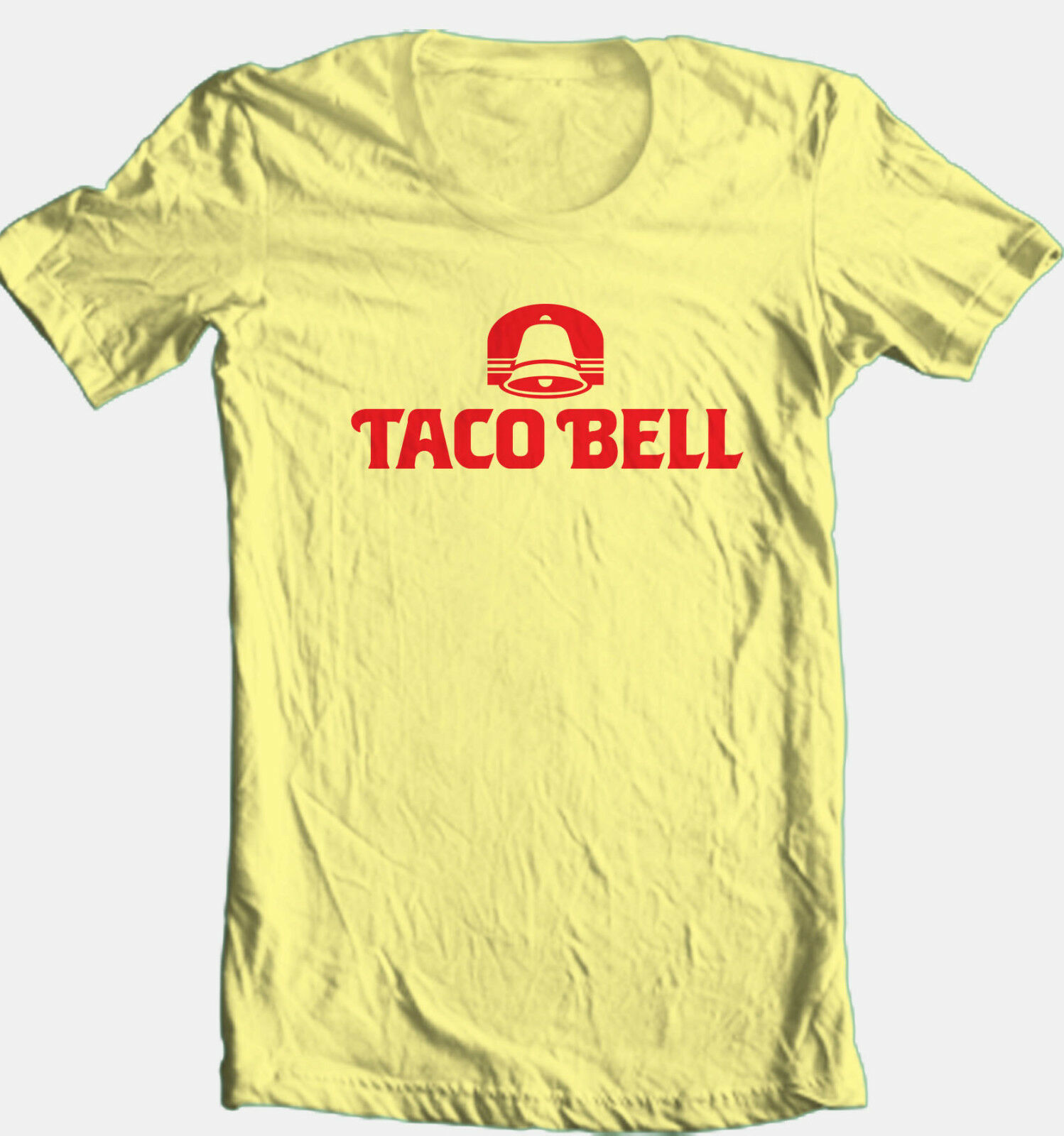 Taco Bell T-shirt retro 1980's logo fast food restaurant 100% cotton graphic tee