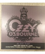 Ozzy Osbourne Black Rain Limited Edition Cardboard Promo Poster 24x24 - $48.15