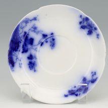 Flow Blue Duchess Saucer c1900 Grindley England a Set of 3 image 3