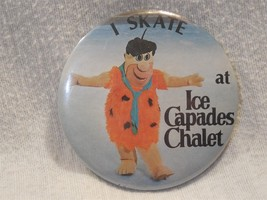 "Flintstones 1980 Ice Capades Chalet 3"" Fred Flintstone Metal Pin-Back Bu... - $7.95"