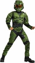 Kids Master Chief Infinite Muscle Costume HALO Halloween Costume S-M-L NEW