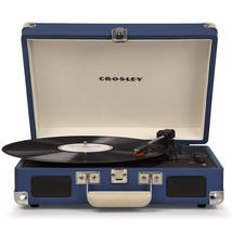 PORTABLE STEREO RECORD PLAYER TURNTABLE IN HAWAIIAN BLUE ELVIS PRESLEY 3 SPEED image 1