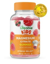 Lifeable Magnesium Citrate for Kids, Great Tasting Natural Flavor, 90 Gummies - $17.99