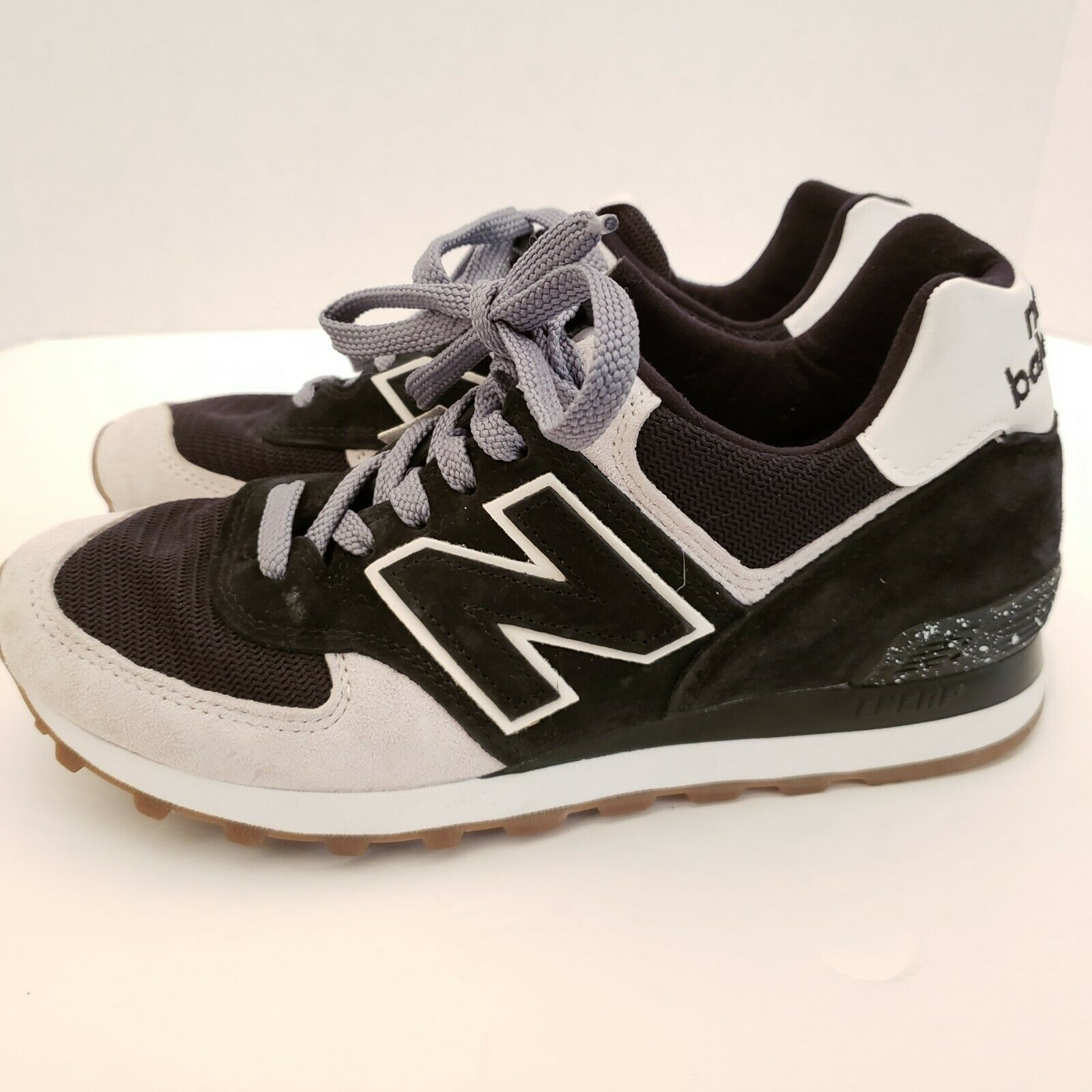 New Balance Men's Size 7 Black and White Running Sneakers USA Made Classic Shoe image 4