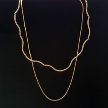 Multi-Strand Curved Bar Choker Necklace Brass Gold Tone Fashion Item N20 - $23.36