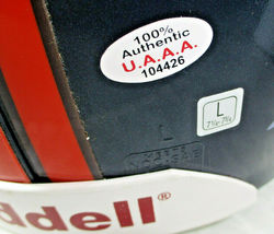 TERRELL DAVIS / AUTOGRAPHED DENVER BRONCOS NFL PRO LINE FOOTBALL HELMET / COA image 10