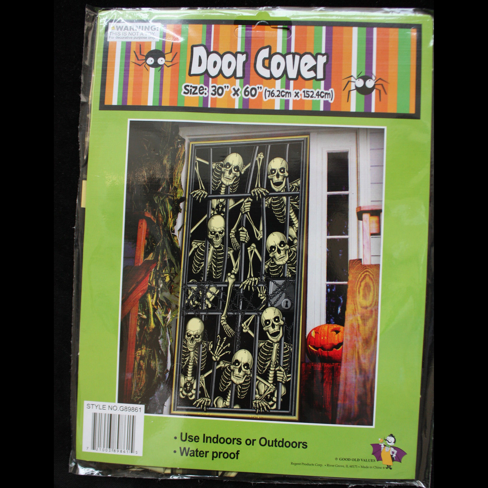 Gothic-SKELETON PRISONERS DOOR COVER MURAL-Halloween Party Decoration Prop-30x60
