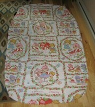 Vintage Strawberry Shortcake Twin Fitted Sheet Craft Fabric - $24.74