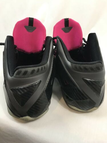 Nike Lebron XI Flywire Sneakers, Black, Men's Size 10.5
