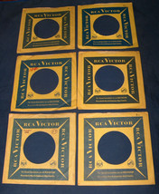 (6) RCA Victor Masters Voice Dog Phonograph 45 RPM Vinyl Wax Record Slee... - $8.89