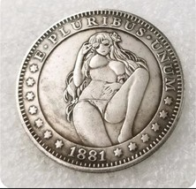 New Hobo Nickel 1881 USA Morgan Dollar Kinky Girl Bikini Beach COIN Anime - $11.99