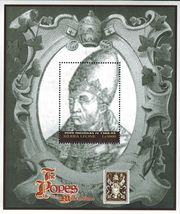 Pope Nicholas IV Sierra Leone Souvenir Sheet MNH