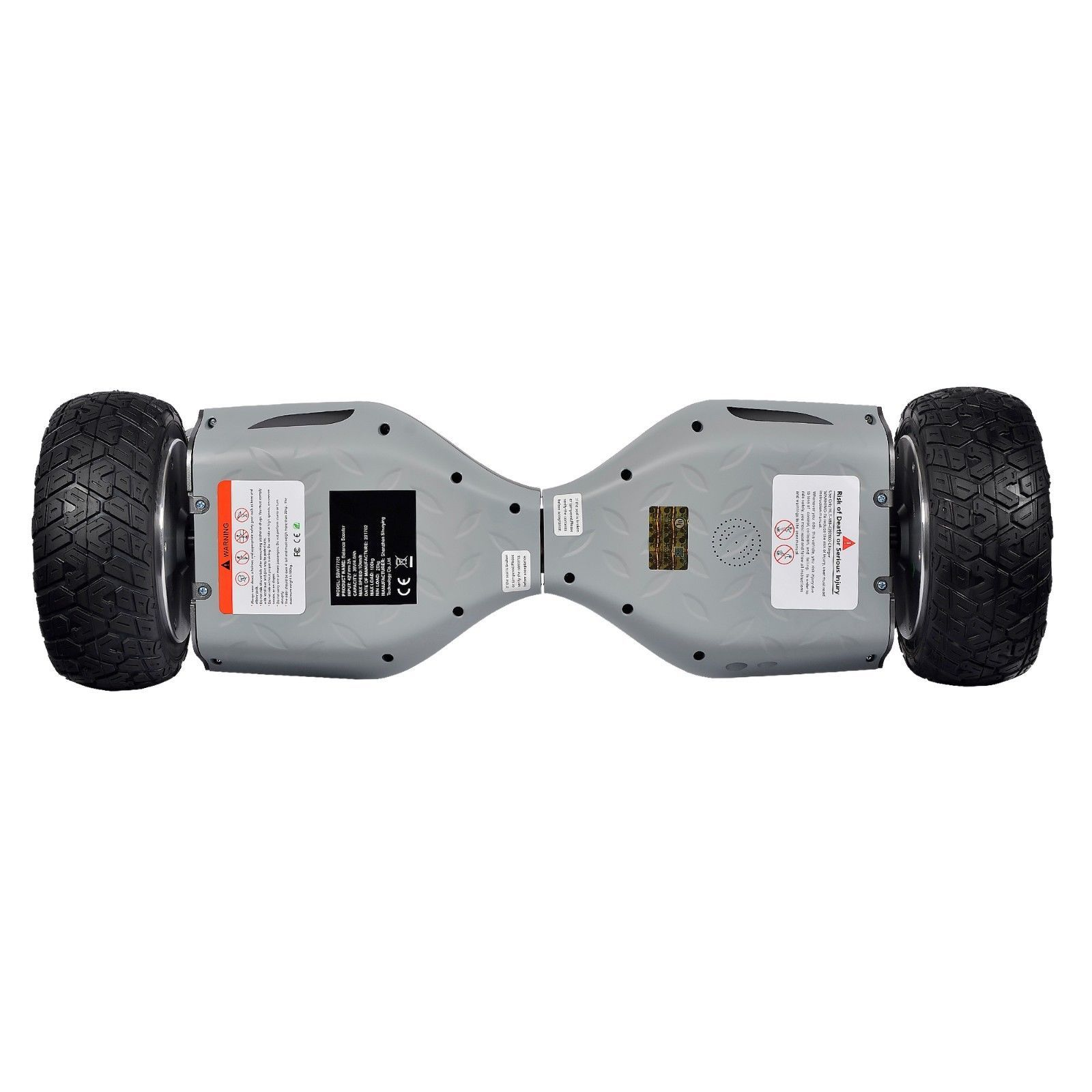 Heavy Duty Metal Gray Hoverboard 8.5 All Terrain Off Road Bluetooth Scooter