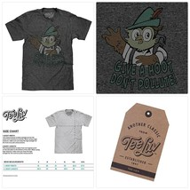 Tee Luv Woodsy Owl T-Shirt - Give a Hoot Don't Pollute Owl Shirt - $33.28