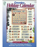 Country Holiday Calendar Plastic Canvas 10 Mesh PATTERN/INSTRUCTIONS NEW - $1.50
