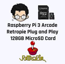 Raspberry Pi 3 Arcade Retropie Plug & Play 128GB MicroSD Card - $55.50