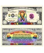 25 Gay Pride Money Fake Dollar Bills LGBT Novelty Lot Million Promotional - ₨613.76 INR