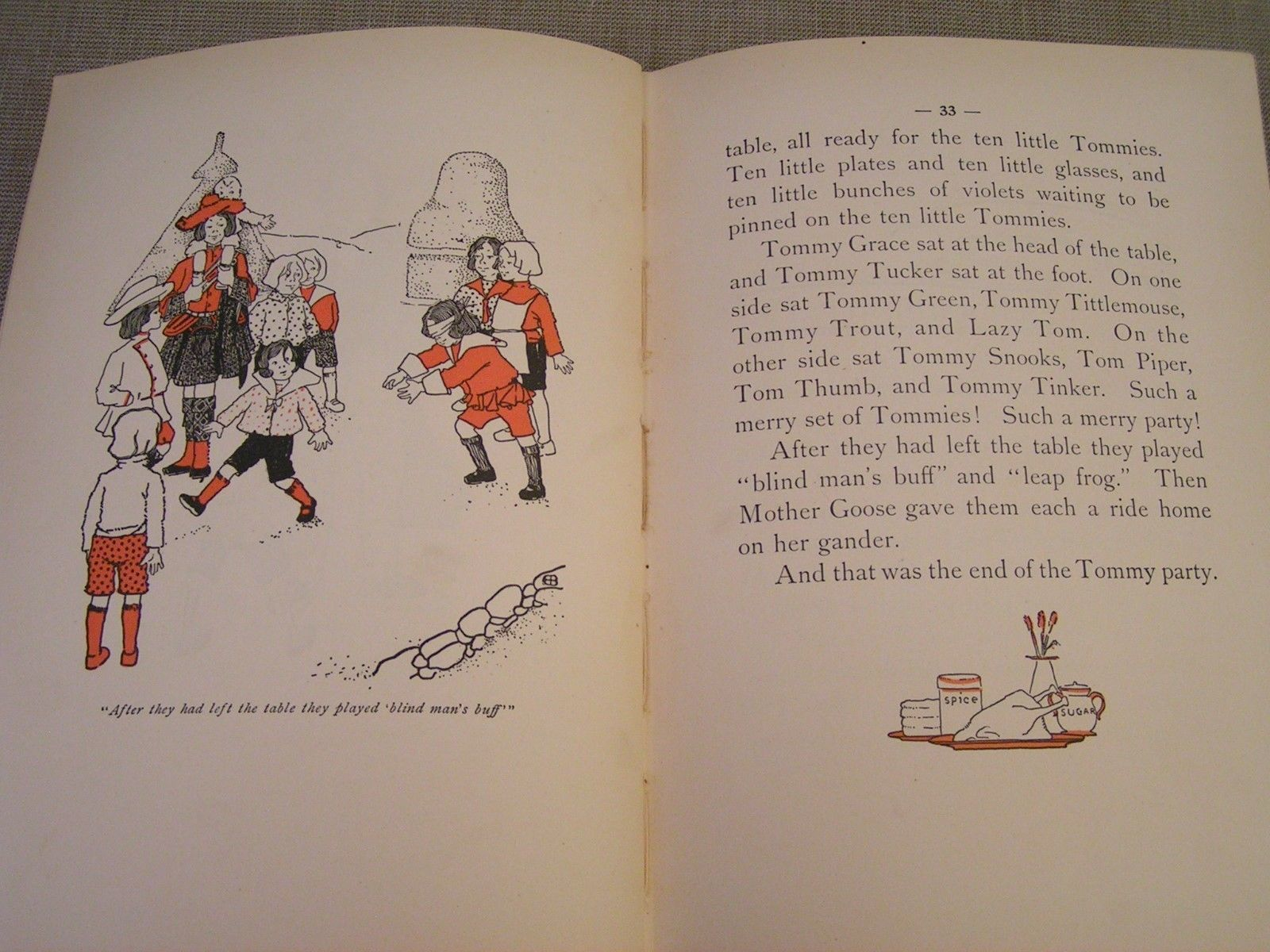 Stories of Mother Goose Village - 1903 Childrens Nursery Rhyme Fairy Tales Book