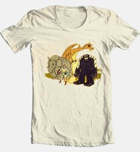 Herculoids T-shirt vintage 80s Saturday morning cartoon 100% cotton beige tee image 1
