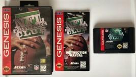 ☆ NFL Quarterback Club (Sega Genesis 1994) COMPLETE in Case Game Manual Works ☆ - $6.50