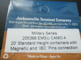 Jacksonville Terminal Company # 205398 EMSU Camo A 20; Container Military Series image 5