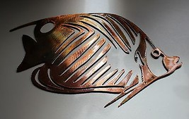"""Aquatic Butterfly Fish Metal Decor copper/bronze plated 10"""" long by 6 1/2"""" tall - $25.98"""