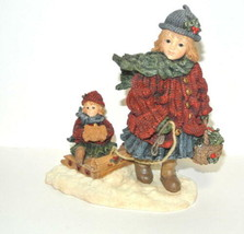 Yesterdays Child Boyds Bears Courtney W/ Phoebe Over the River 3512 Holi... - $19.75