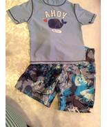 Lot of 2 swimwear Child of Mine top 4T Cherokee board shorts XS sunscree... - $13.99