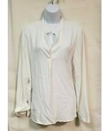 NWOT Prologue White Long Sleeve Blouse Size L - $14.85