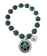 Holly Road Custom Cerebral Palsy Awareness Green Bling Bracelet Jewelry ... - $16.82