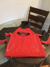 Wisconsin Badgers Red Black Nike Hoodie Sweatshirt Youth Large - $4.94