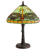 "16""H Tiffany Dragonfly w/ Twisted Fly Mosaic Base Accent Lamp - $579.00"