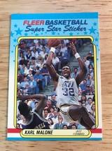 1988 89 Fleer Super Star Sticker Karl Malone Utah Jazz #8 - $1.24