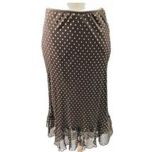 Brown Jonathan Martin Polka Dot Skirt - $18.81
