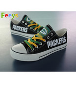 Green Bay Packers shoes Packers sneakers Fashion Christmas gift birthday... - $55.00+