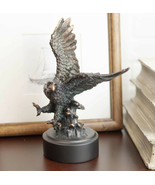 Wings of Glory Bald Eagle Swooping Over Stormy Ocean Waves Electroplated... - $29.99