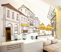 3D Linien skizziert Haus 54 Fototapeten Wandbild Fototapete BildTapete FamilieDE - $52.21+