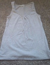 Forever 21 tank top basic stretch heathered beige juniors L - $9.49
