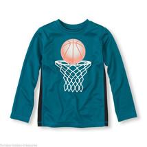 Children's Place Boys Sz Large 10/12 Basketball Hoop Ball Net Shirt Sea ... - $10.96