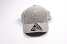 New Reebok Crossfit Adjustable Fit Water Repellant Spell Out Speedwick Hat Gray - $17.77
