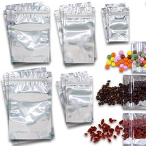 Resealable Bags Smell Proof Set - 100 Pcs 5 Different Sizes Ziplock Mylar Sealab - $9.99