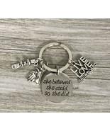 Snowboarder Gift, Snowboarding Charm Keychain, Snowboarding Jewelry - $10.00