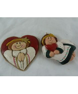 Eddie Walker Midwest of Cannon Falls Angels and Hearts Christmas Ornamen... - $14.84