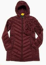 New London Fog Women Lightweight Packable Down Jacket With Hood Wine Size M - $89.09