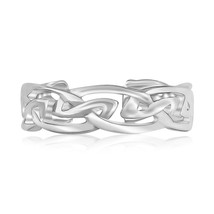 Sterling Silver Rhodium Plated Celtic Style Toe Ring - $21.58