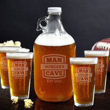 Man Cave Growler & Beer Glasses Gift Set (Personalized Product) - $59.95