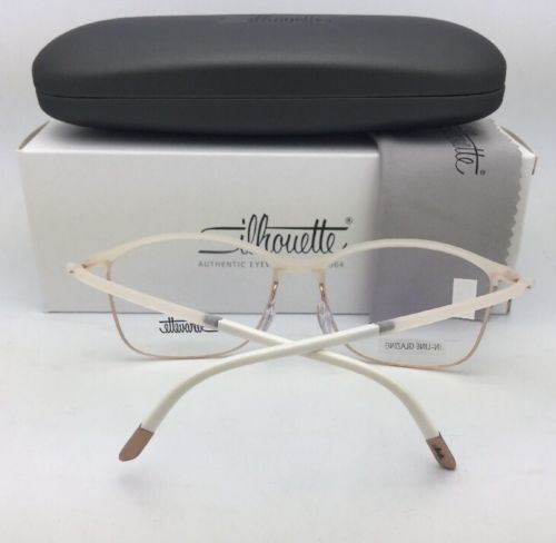 New SILHOUETTE Eyeglasses SPX 1575 20 6056 53-16 135 Matte Ivory and Gold Frames
