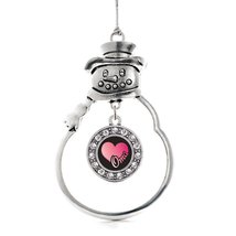 Inspired Silver Oma Circle Snowman Holiday Christmas Tree Ornament With ... - $14.69
