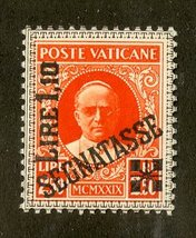 1931 Pope Pius XI Vatican City Postage Due Stamp Catalog Number J6 MNH